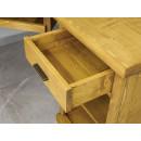 pojemne biurko drewniane narożne