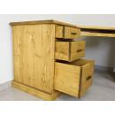 pojemne biurko drewniane z szufladami