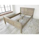 rama łóżka z drewna