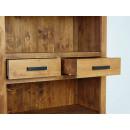 regał drewniany z szufladami