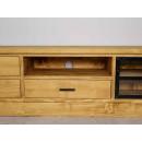 rtv z drewna w loftowym stylu