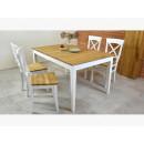 stół dębowy drewniany z krzesłami