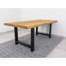 stół drewniany metalowe nogi