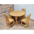 Stół rozkładany z drewna