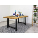 stół z drewna metalowe nogi