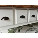 drewniana ława z szufladami