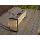 belka drewniana z opaską stalową