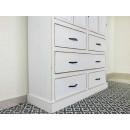 szafa drewniana biała szuflady