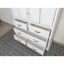 szafa drewniana biała wysuniete szuflady