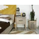 szafka nocna drewniana styl boho