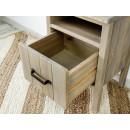 szafka nocna z wysunięta szuflada
