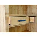 szuflada drewnianego regału