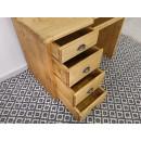 szuflady drewniane biurko