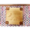 taboret z drewna świerkowego