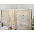 zagłówek łóżka z drewna