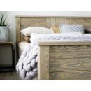 zanóżek łóżko z litego drewna