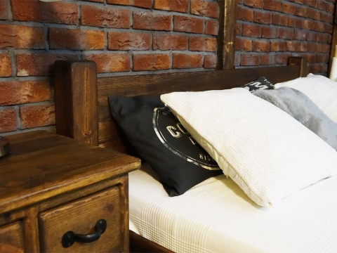 Łóżko Sosnowe Rustyk / Ostrowit II 160
