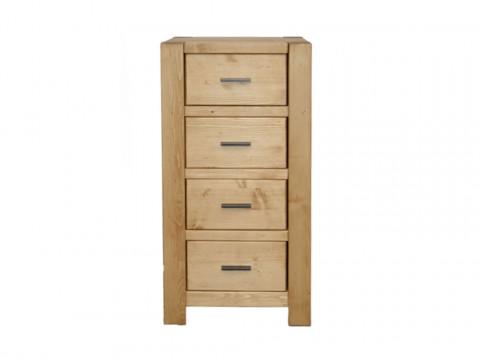 wąska komoda drewniana z szufladami