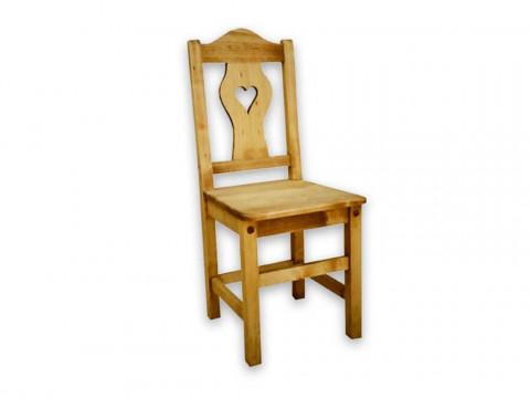 Krzesło z drewna świerkowego Mexicana 5