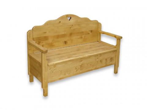 Ławka z drewna świerkowego Mexicana 4