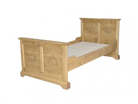 Łóżko rzeźbione Jagna 140x190