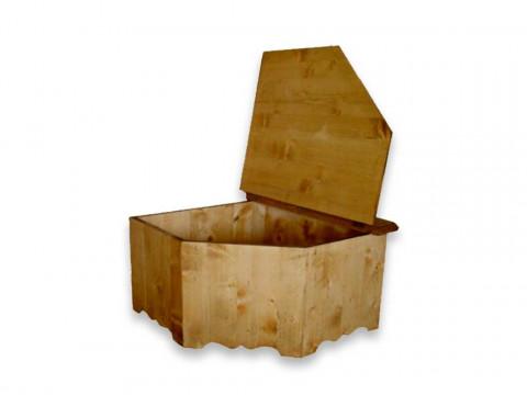 Skrzynia narożna z drewna świerkowego Mexicana 1