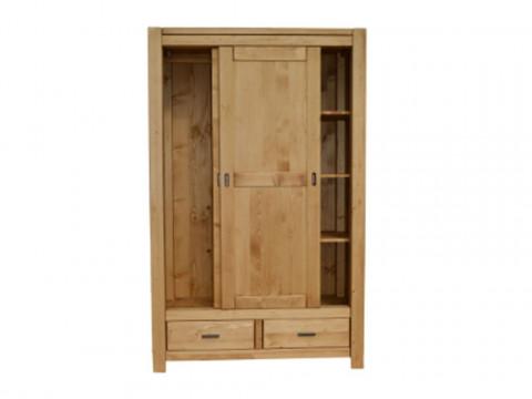 dwudrzwiowa szafa drewniana do sypialni