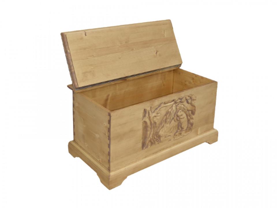 Skrzynia, kufer z drewna
