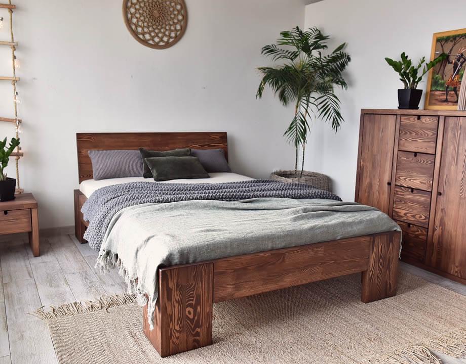 Łóżko dębowe