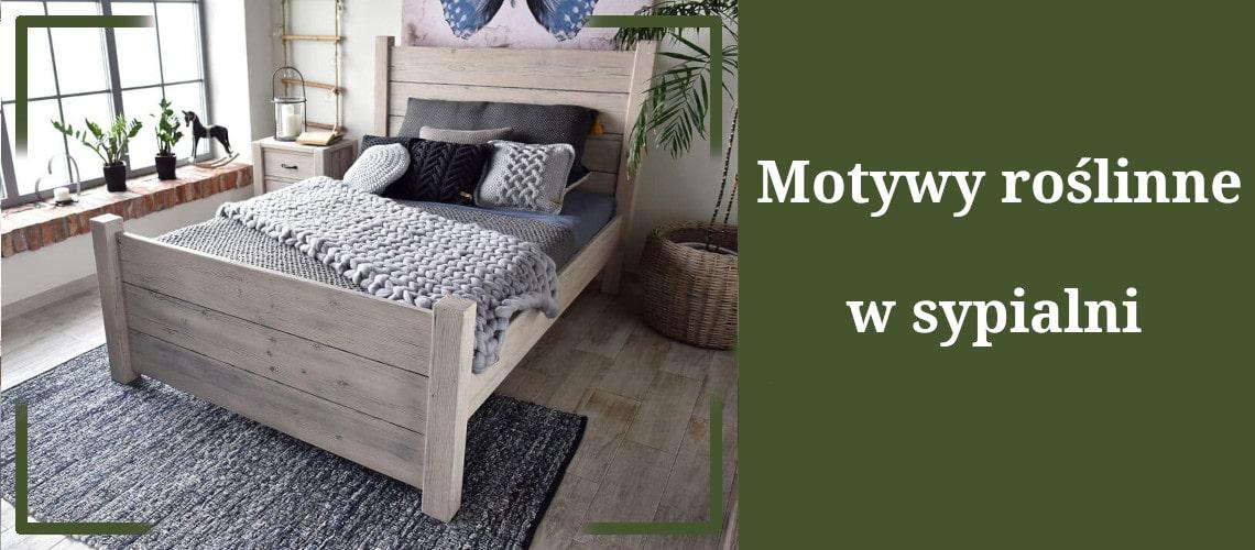 motywy roślinne w sypialni