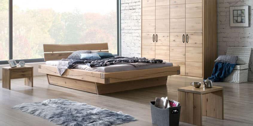 Sypialnia Dla Wymagających Dębowe Meble W Nowoczesnym
