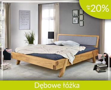 Dębowe łóżka do -20%