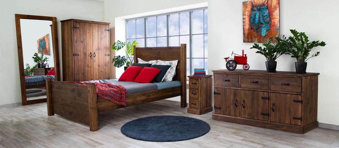 Inspiracje sypialnia rustykalna