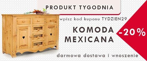 Komody drewniane w promocyjnej cenie