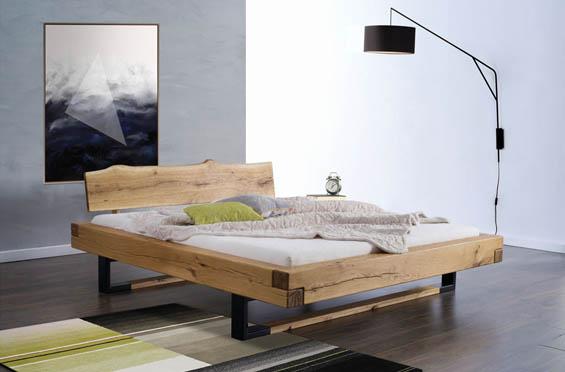 Stylowe łóżka z litego drewna dębowego