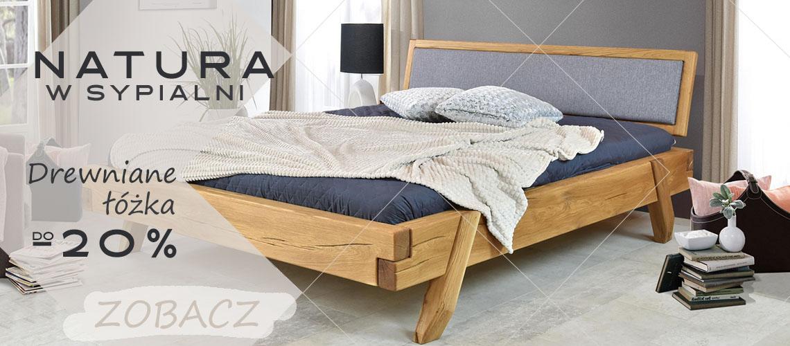 Natura w sypialni - dębowe łóżka do -20%
