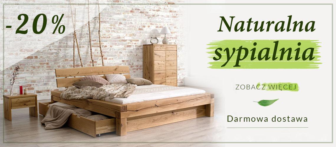 naturalna sypialnia dębowa