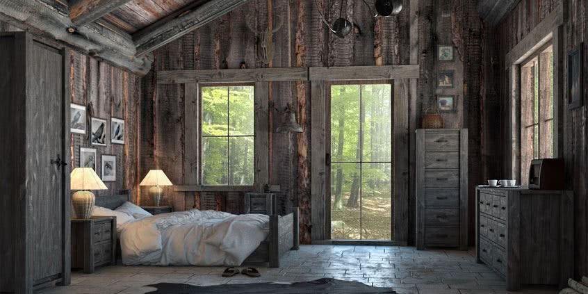 meble rustykalne, drewniane meble do sypialni, łóżka drewniane do sypialni, łóżka do sypialni, producent mebli drewnianych, Seart