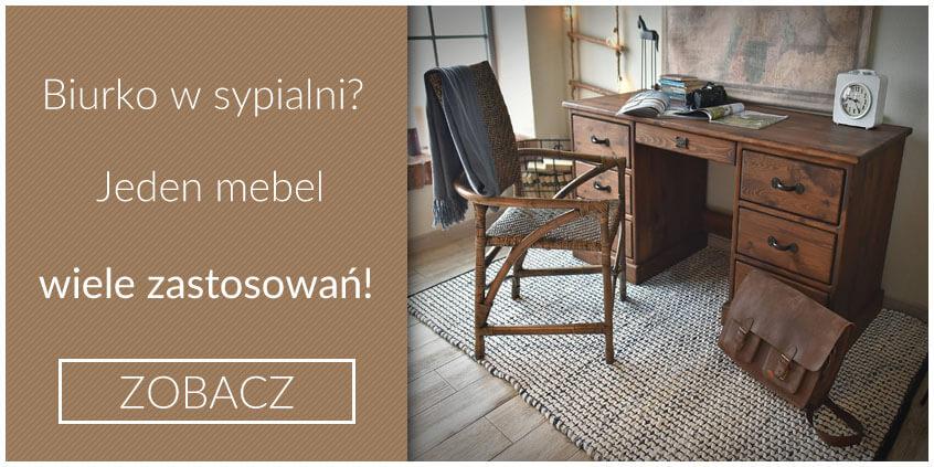 Biurko drewniane w sypialni? Jeden mebel - wiele zastosowań!