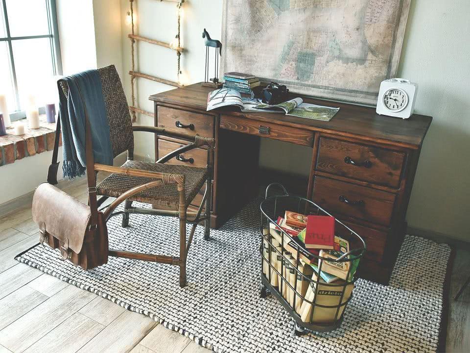 biurko drewniane rustyk