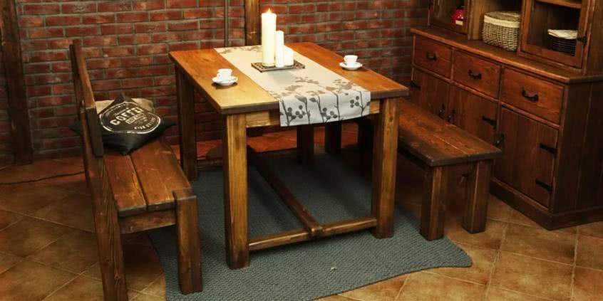 drewniany stół z drewna, meble z litego drewna, meble do jadalni