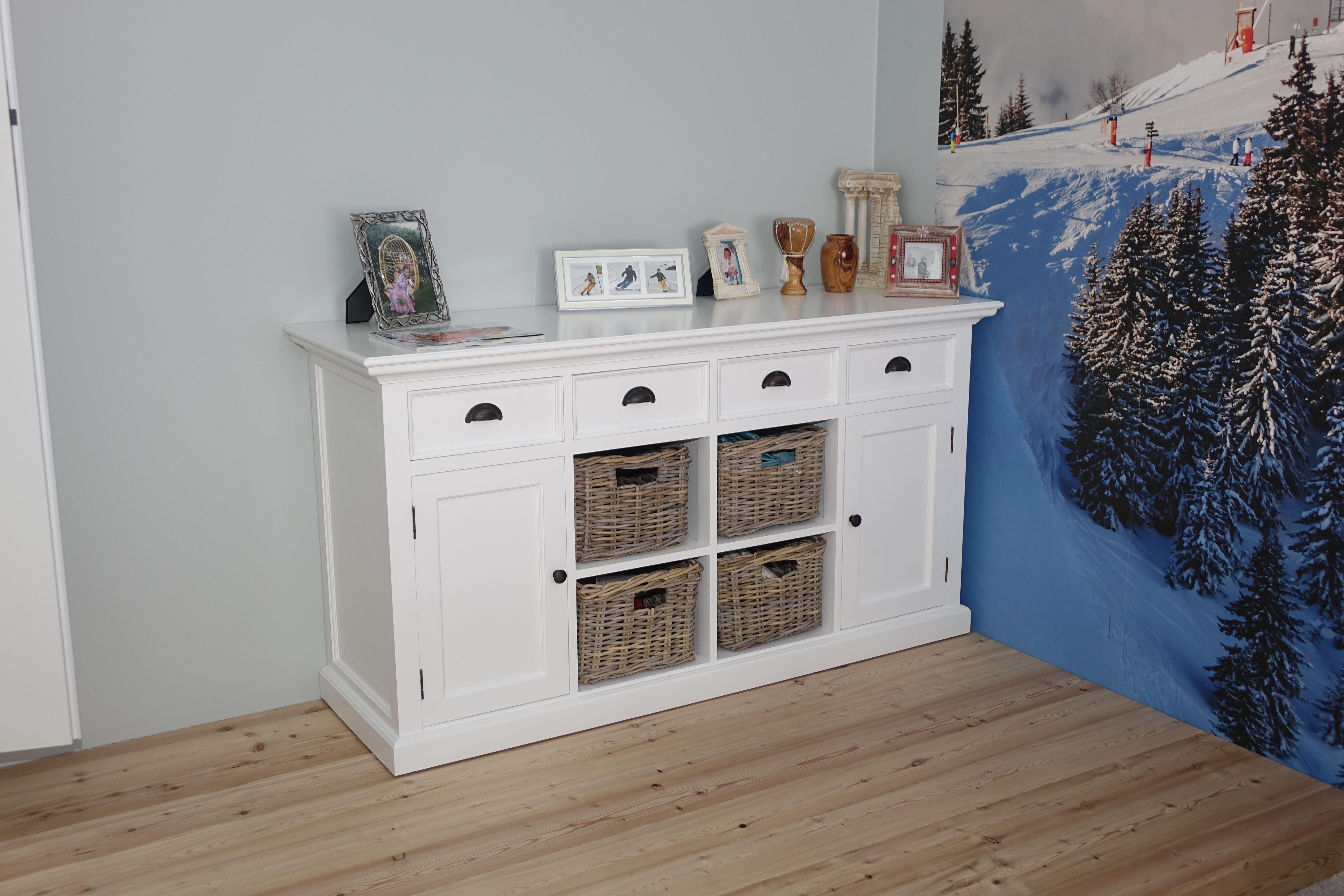 Komoda biała drewniana