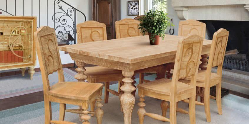 Drewniane meble z ręcznie rzeźbionymi frontami - sprawdź, gdzie będą pasować!