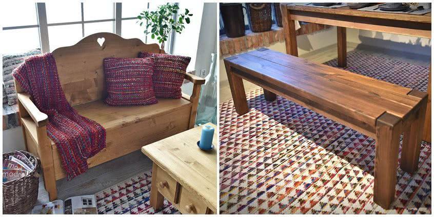 Drewniane ławki – meble wielofunkcyjne