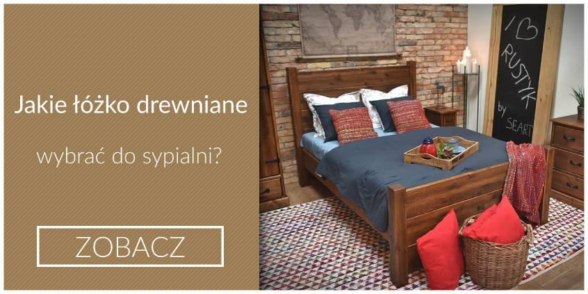 łóżko drewniane dobromir w starym stylu