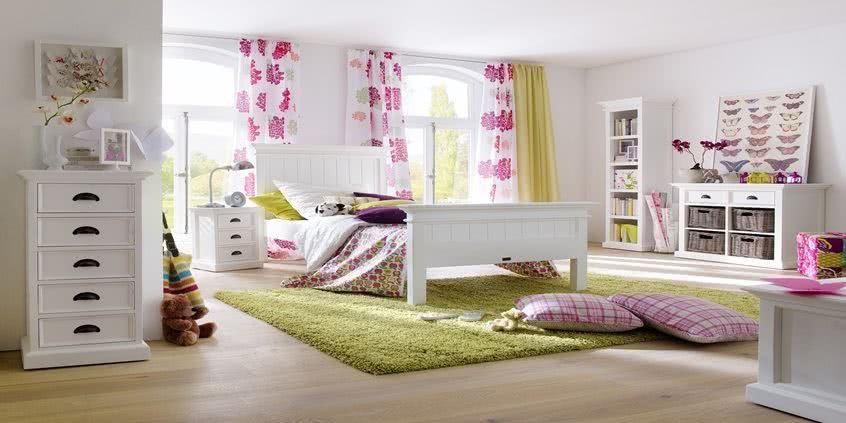 Stylowa Sypialnia I łóżka Białe Jak śnieg Seart