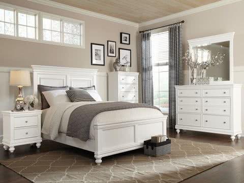 Topnotch Stylowa sypialnia i łóżka białe jak śnieg - SEART CW05