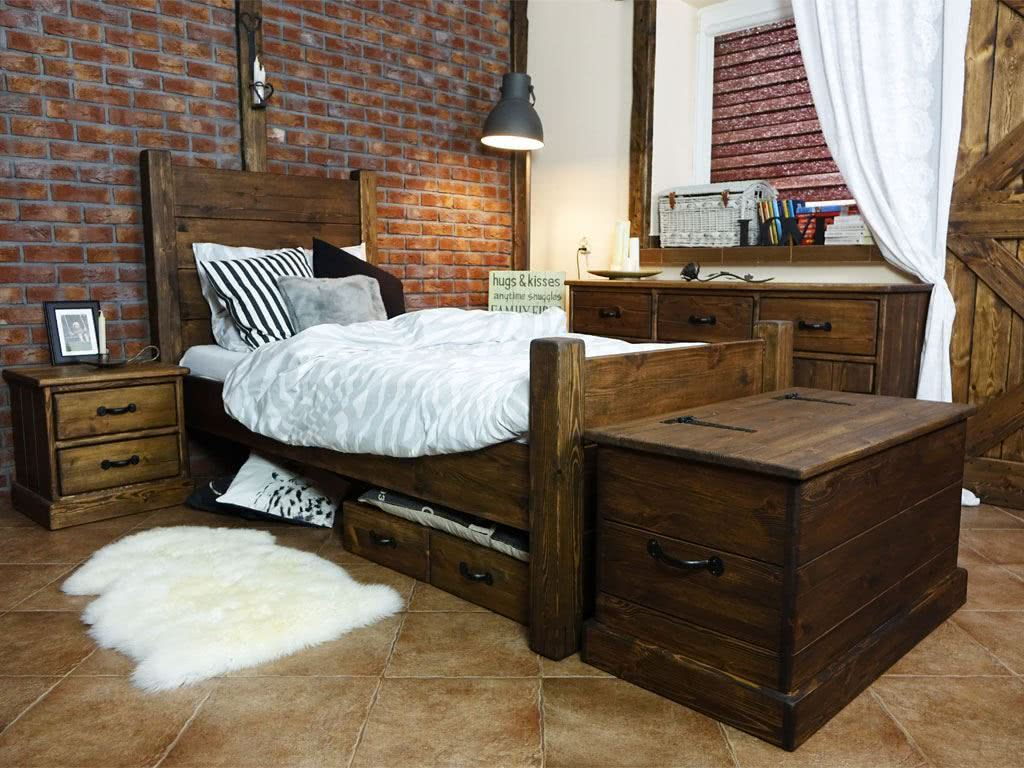 Fantastyczny Sypialnie drewniane, meble do sypialni - SEART DE03