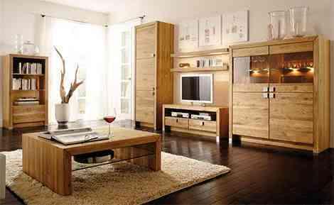 Drewniane, dębowe meble do salon