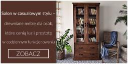 Salon w casualowym stylu – drewniane meble dla osób, które cenią luz i prostotę w codziennym funkcjonowaniu